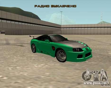Toyota Supra ZIP style pour GTA San Andreas vue de côté