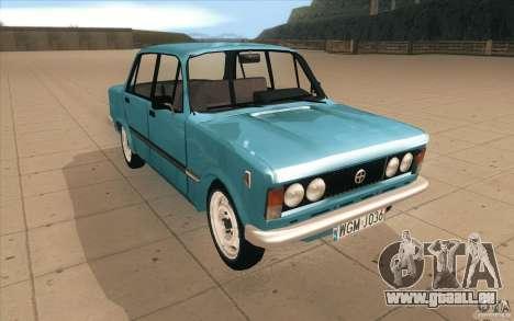 Fiat 125p pour GTA San Andreas vue arrière