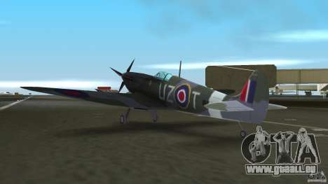 Spitfire Mk IX für GTA Vice City Rückansicht