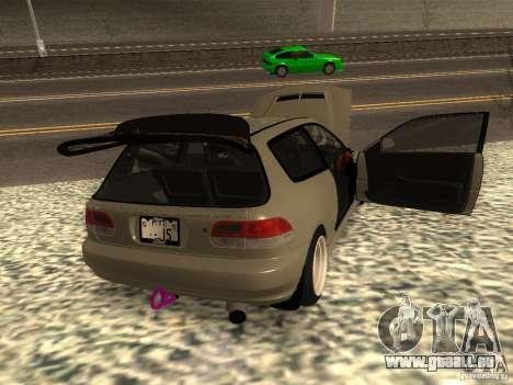 Honda Civic EG6 JDM pour GTA San Andreas sur la vue arrière gauche