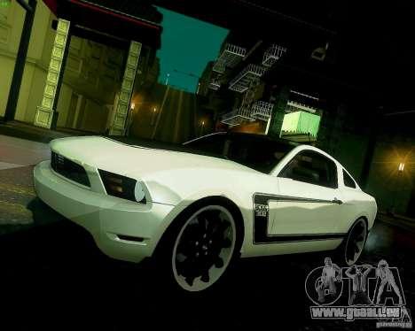 Ford Mustang Boss 302 2011 für GTA San Andreas Innenansicht