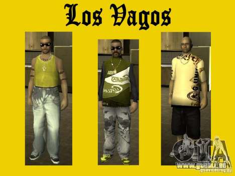 Peaux de gang de Vagos pour GTA San Andreas
