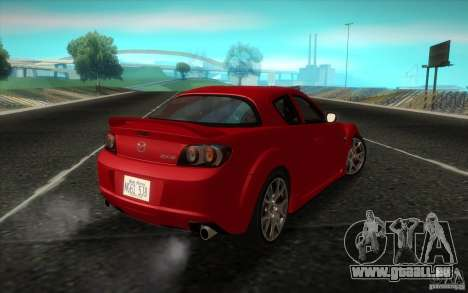 Mazda RX-8 R3 2011 pour GTA San Andreas laissé vue