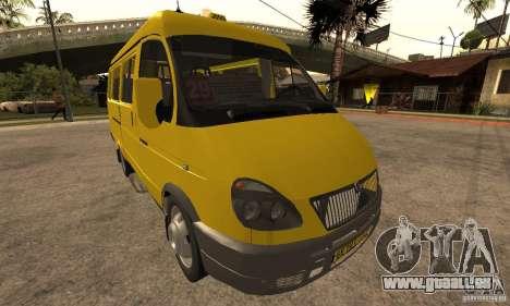 Minibus de Novossibirsk Gazelle 32213 pour GTA San Andreas