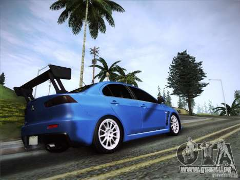 Mitsubishi Lancer Evolution Drift Edition für GTA San Andreas linke Ansicht