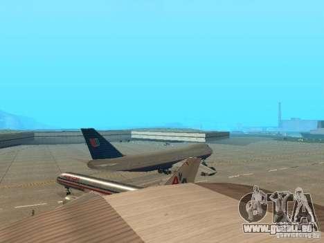Boeing 747-100 United Airlines für GTA San Andreas rechten Ansicht