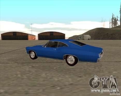 Chevrolet Impala 427 SS 1967 pour GTA San Andreas sur la vue arrière gauche