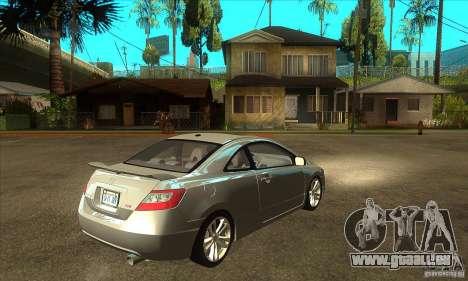 Honda Civic Si - Stock pour GTA San Andreas vue de droite