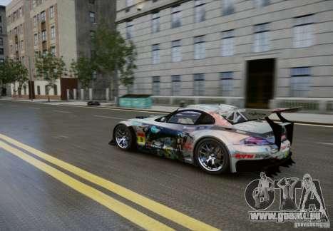 BMW Z4 GT3 2010 V.2.0 pour GTA 4 est une vue de l'intérieur