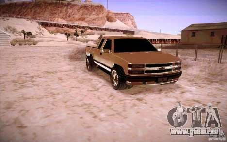 Chevrolet Silverado 3500 für GTA San Andreas linke Ansicht
