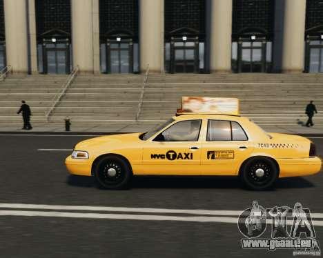 Ford Crown Victoria NYC Taxi 2012 pour GTA 4 est une gauche