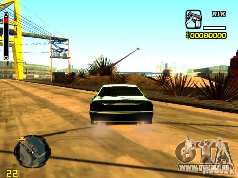 New Elegy v1 pour GTA San Andreas sur la vue arrière gauche