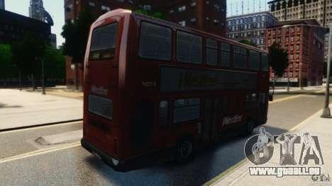 London City Bus pour GTA 4 Vue arrière de la gauche
