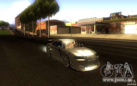Nissan Skyline GTR R34 pour GTA San Andreas vue intérieure