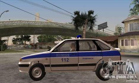 ВАЗ 2114 Police pour GTA San Andreas laissé vue