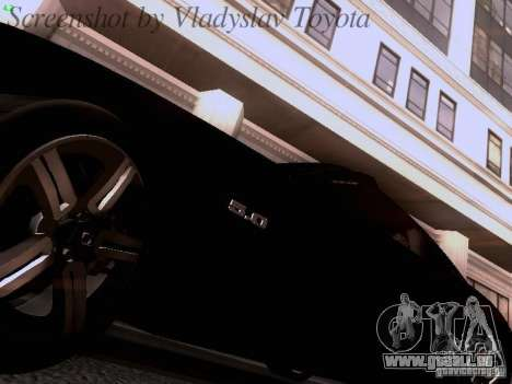 Ford Mustang GT 2011 Unmarked pour GTA San Andreas vue intérieure