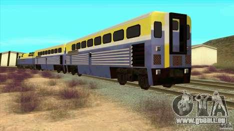 Latvian Train pour GTA San Andreas sur la vue arrière gauche