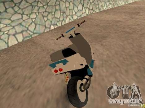 MBK Booster pour GTA San Andreas laissé vue