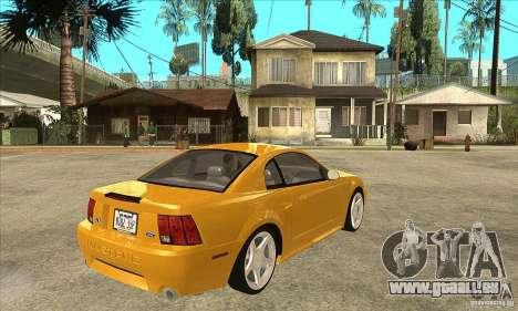 Ford Mustang GT 1999 - Stock pour GTA San Andreas vue de droite