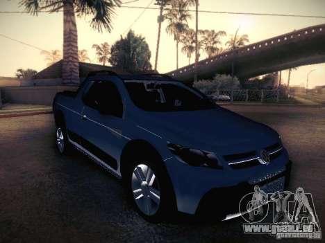 Volkswagen Saveiro Cross für GTA San Andreas Rückansicht