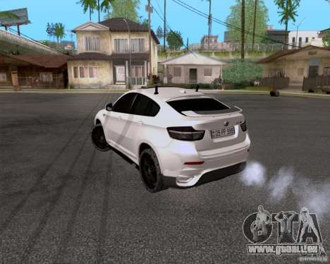 BMW X6 für GTA San Andreas zurück linke Ansicht