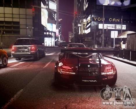 BMW Z4 GT3 2010 pour GTA 4 vue de dessus
