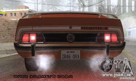 Ford Mustang Mach1 1973 pour GTA San Andreas moteur