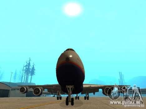 Boeing 747-100 United Airlines pour GTA San Andreas vue intérieure