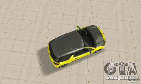 Citroen Ds3 Sport 2011 für GTA San Andreas zurück linke Ansicht
