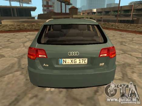 Audi S3 Sportback 2007 für GTA San Andreas rechten Ansicht