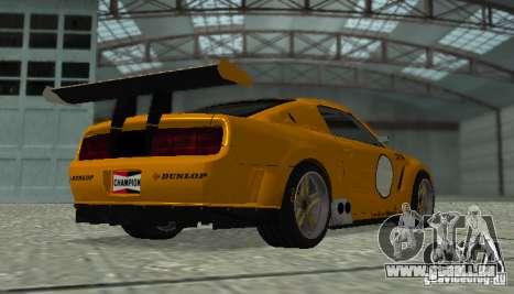 Ford Mustang GT-R pour GTA San Andreas sur la vue arrière gauche