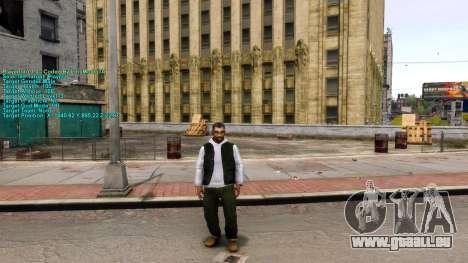 Informationen über den player für GTA 4 Sekunden Bildschirm