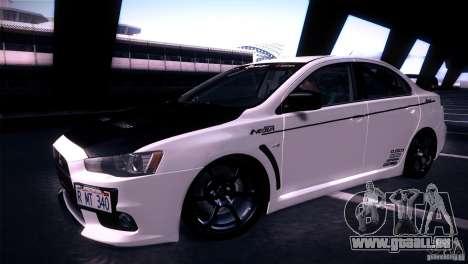 Mitsubishi Lancer Evolution X Tunable pour GTA San Andreas vue de droite