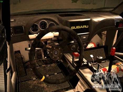 Subaru impreza Tarmac Rally für GTA San Andreas Rückansicht