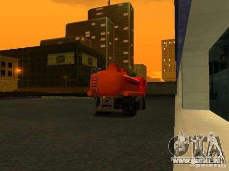Camion MAZ pour GTA San Andreas sur la vue arrière gauche