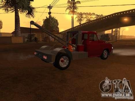 Dodge Towtruck für GTA San Andreas zurück linke Ansicht