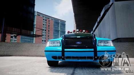 Ford Crown Victoria Classic Blue NYPD Scheme pour GTA 4 est une vue de dessous