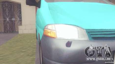 Toyota Granvia pour GTA San Andreas sur la vue arrière gauche