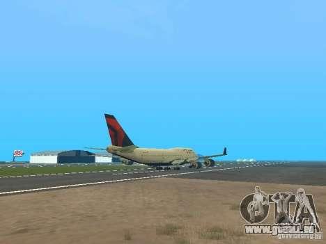 Boeing 747-400 Delta Airlines für GTA San Andreas rechten Ansicht