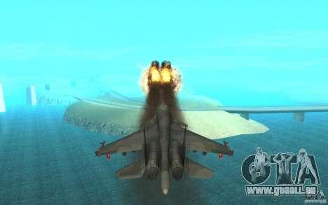 Le Su-34 pour GTA San Andreas vue intérieure