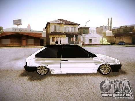 VAZ 2108 Chrome pour GTA San Andreas vue de droite