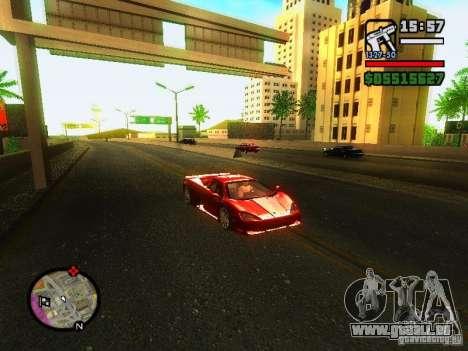 SSC Ultimate Aero pour GTA San Andreas laissé vue