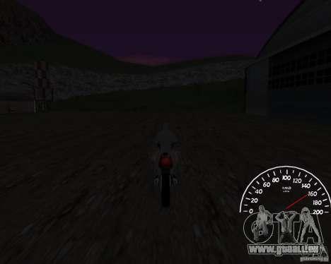 Bêta de l'indicateur de vitesse 0,5 pour GTA San Andreas troisième écran