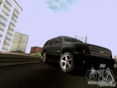 Chevrolet Tahoe 2009 Unmarked pour GTA San Andreas laissé vue