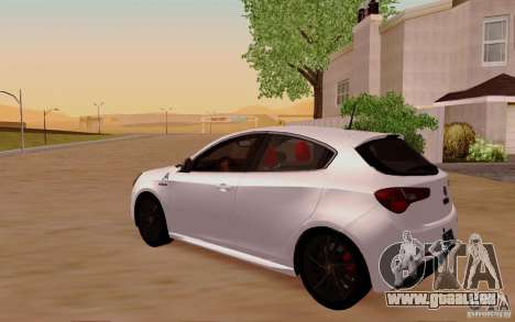 Alfa Romeo Giulietta 2010 für GTA San Andreas Seitenansicht