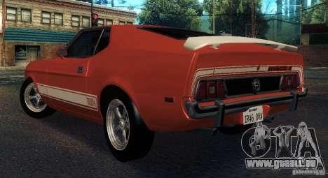 Ford Mustang Mach1 1973 pour GTA San Andreas vue de droite