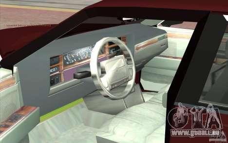 Chrysler Dynasty pour GTA San Andreas vue arrière