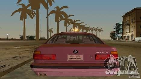 BMW 540i e34 1992 pour une vue GTA Vice City de l'intérieur