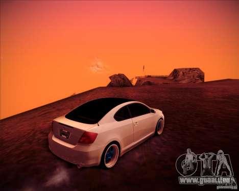 Scion tC Blue Meisters pour GTA San Andreas vue intérieure