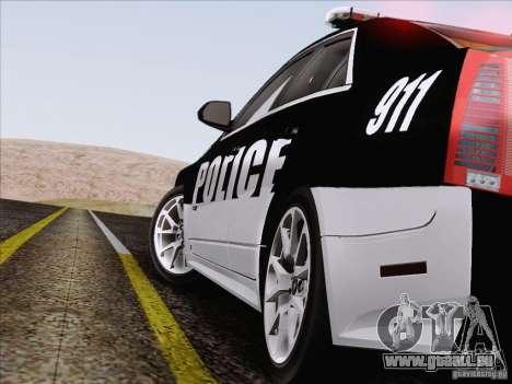Cadillac CTS-V Police Car pour GTA San Andreas vue de dessus